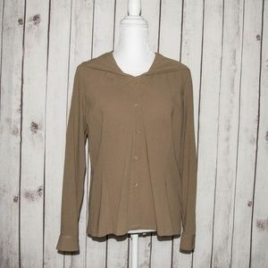 LAFAYETTE 148 New York Button Front Hooded Blouse